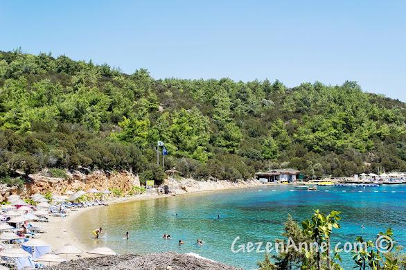 Yalıçiftlik'teki Bodrum Park Resort'un sahili