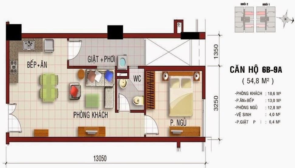 Thiết kế căn hộ Khang Gia Tân Hương ( trang 1 )