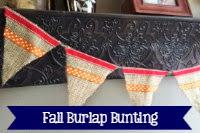 Fall Burlap Bunting