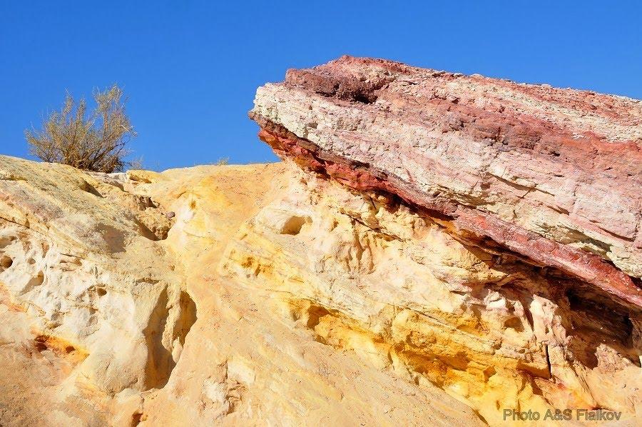 Экскурсия в пустыню Негев, цветные пески.