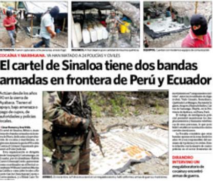 Cartel de Sinaloa llegó al Ecuador