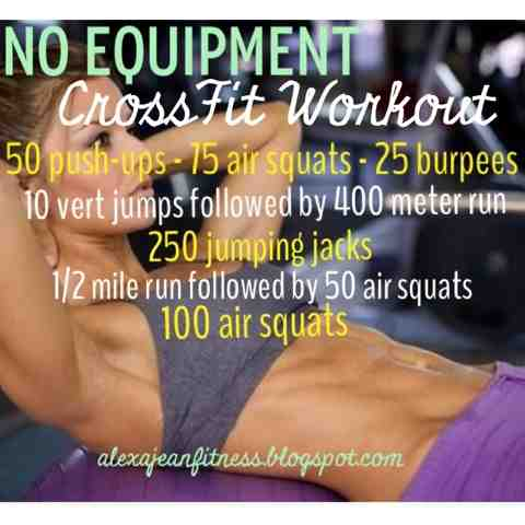 fitness  health no equipment crossfit workout