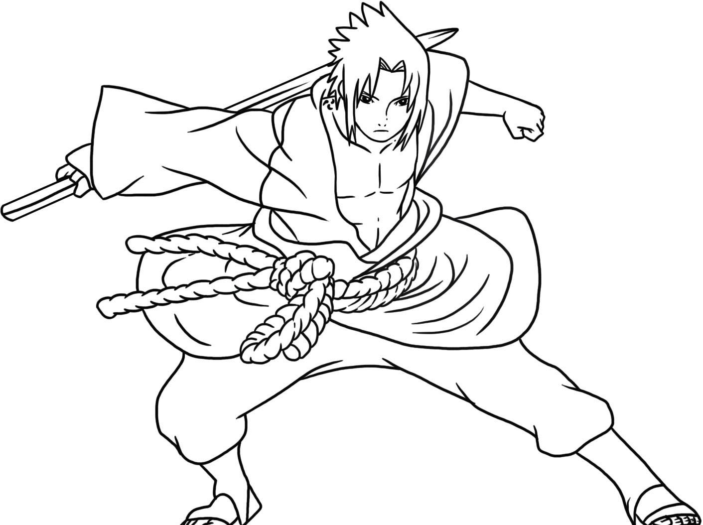 Naruto - Free printable Coloring pages for kids | 1054x1411