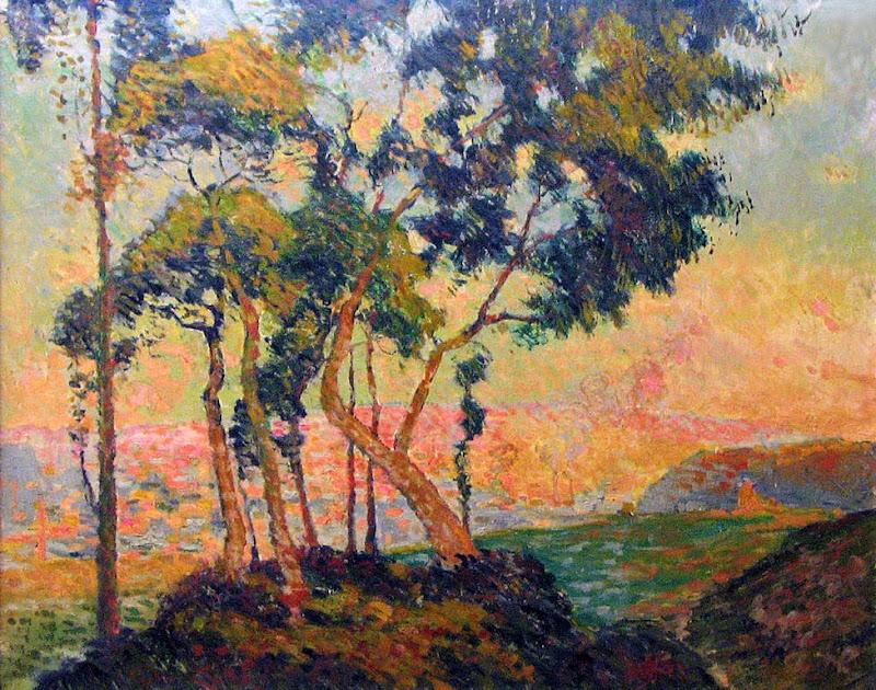 Robert Antoine Pinchon - Vue prise au Mont-Gargan soleil couchant, (before 1909).