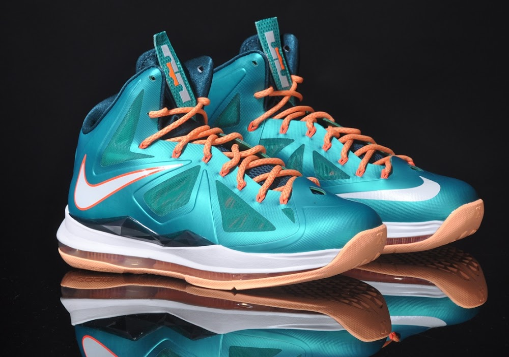 best service d0304 7edc6 ... Detailed Look at LeBron X Sunset Setting Dolphins ...