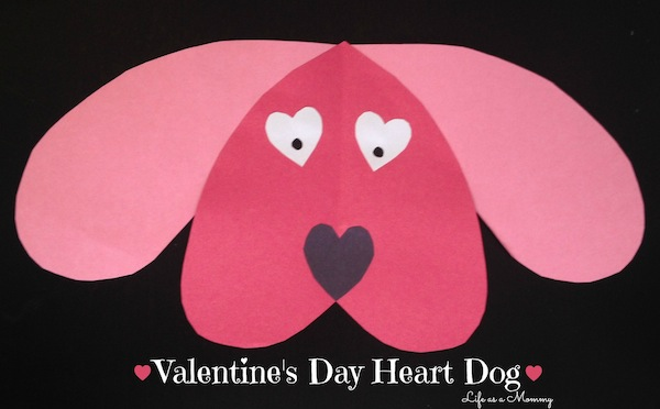 Valentine's Day Heart Dog Kid's Craft by Life As A Mommy