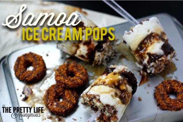 Samoa Ice Cream Pops - The Pretty Life Girls