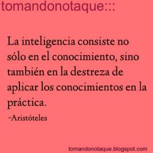 """frases celebres de inteligencia por Aristoteles"""