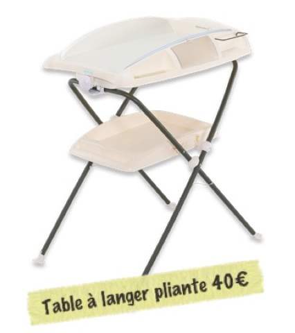 avis table à langer pliante