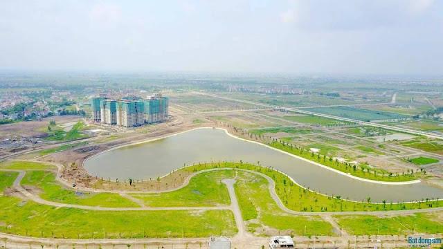 Chung cư HH02 Thanh Hà nhìn từ Fy cam