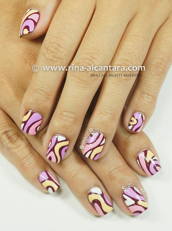Disaligned Nail Art Design by Simply Rins