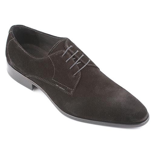 Pantofi Casual Andre, Piele Intoarsa, pe Negru
