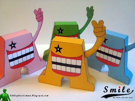 Smile Paper Toy