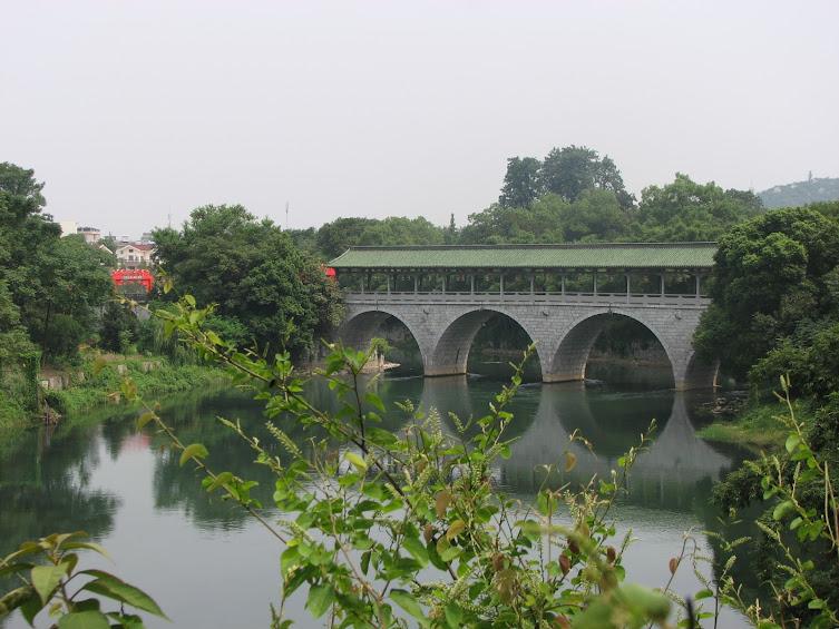 Цветочный мост - вид из парка