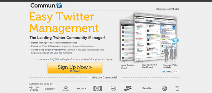 Twitter management tools, Commun.IT