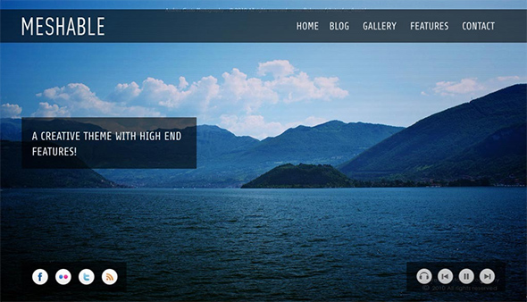 Mesable WordPress Fullscreen Portfolio Theme