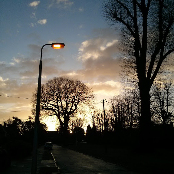 january sunset lindfield england