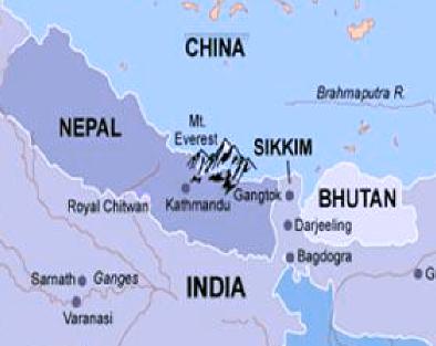Bhutan, China, India and Nepal