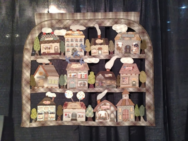 quilted housed wallhanging