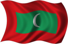 Maldivas - bandeira para colorir