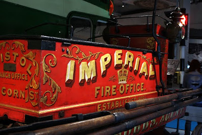 Historic fire truck in the Bristol M Shed Museum