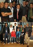 Foto's Jong Ambon delegatie in De Kuip
