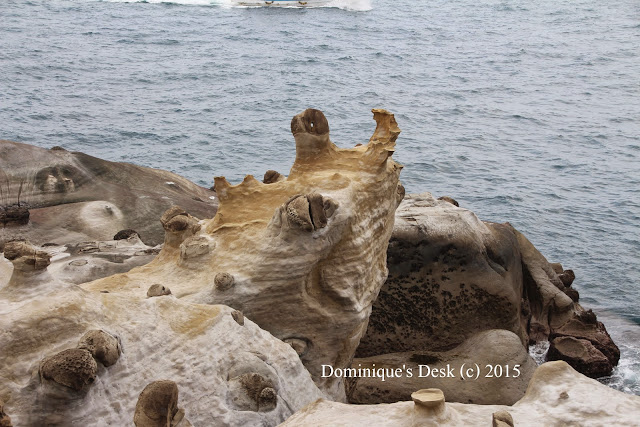 Rock formation at  Heping Island near Keelong Habor, Taipei, Taiwan