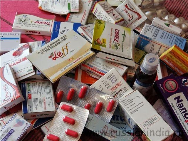 Индийские лекарства, образцы