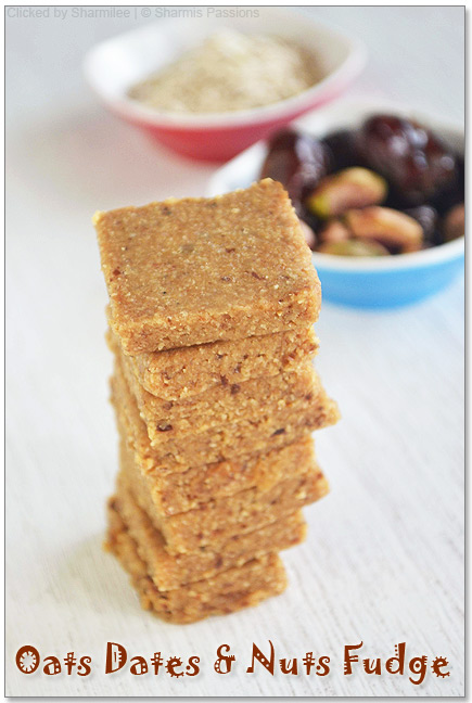 Dates,Oats and Nuts Fudge