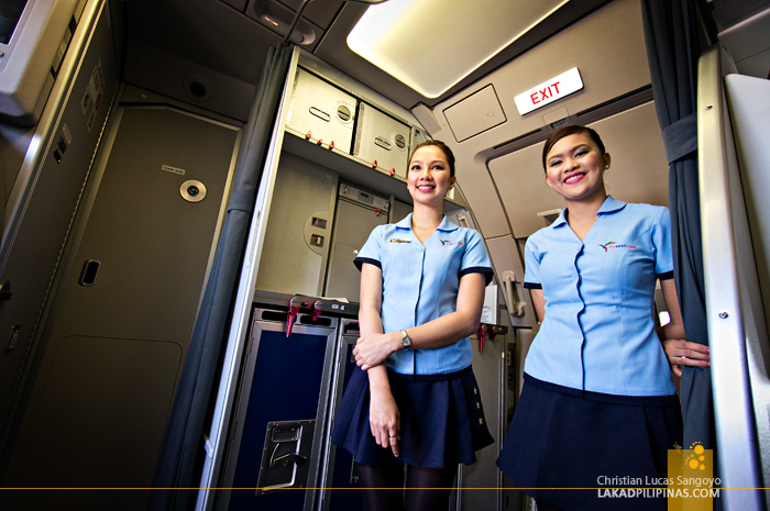 SEAIR's Beautiful Flight Attendants En Route from Manila to Laoag