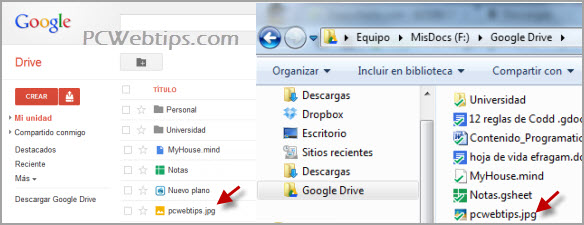 sincronizar google drive pc