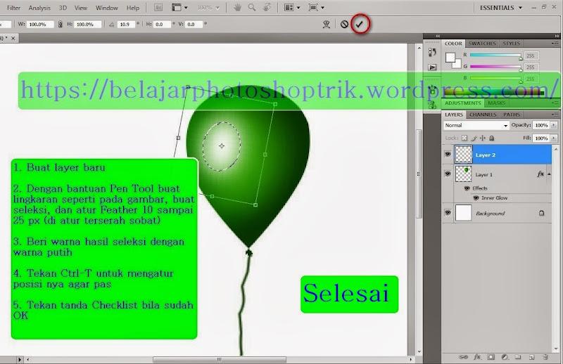 Belajar Photoshop Design Balon Dengan Mudah