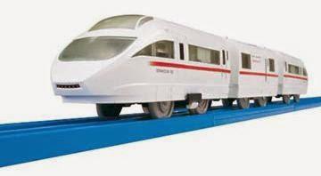 Đồ chơi tàu hỏa S-37 Odakyu 50000 sử dụng pin để chạy trên đường ray cơ bản