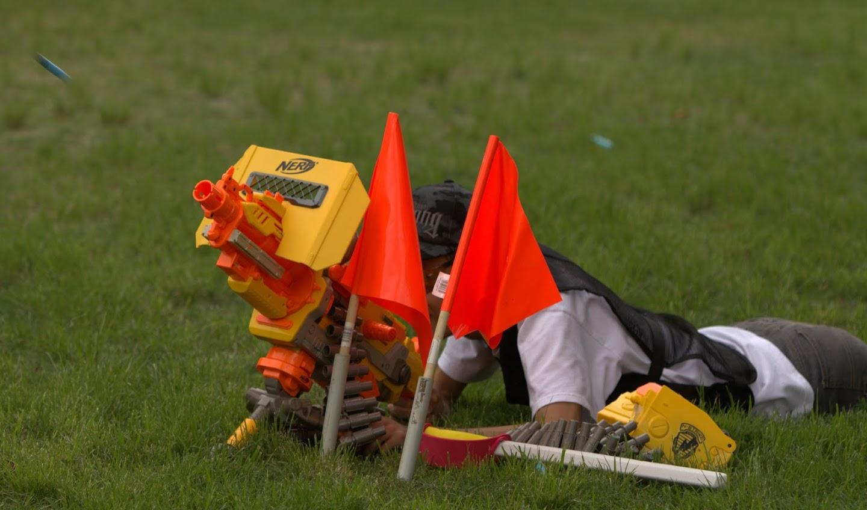 (CENTRAL BRISBANE QUEENSLAND) Kelvin Grove, McCaskie Park, Speed Foam Warfare, 22nd of January, 2012 - (SUNDAY) Nerf%2Bwar%2B298