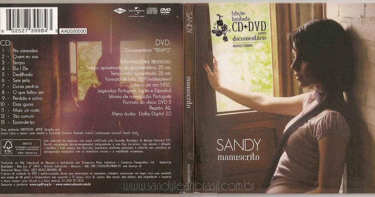 cd completo sandy manuscrito