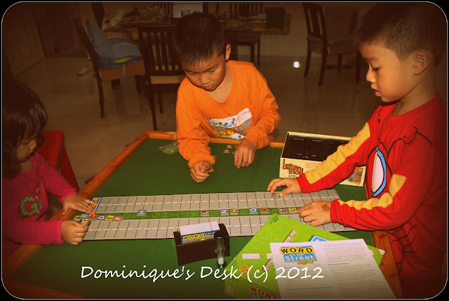 the kids playing the game