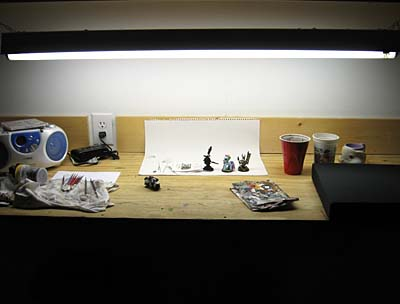 warhammer 40k studio workspace