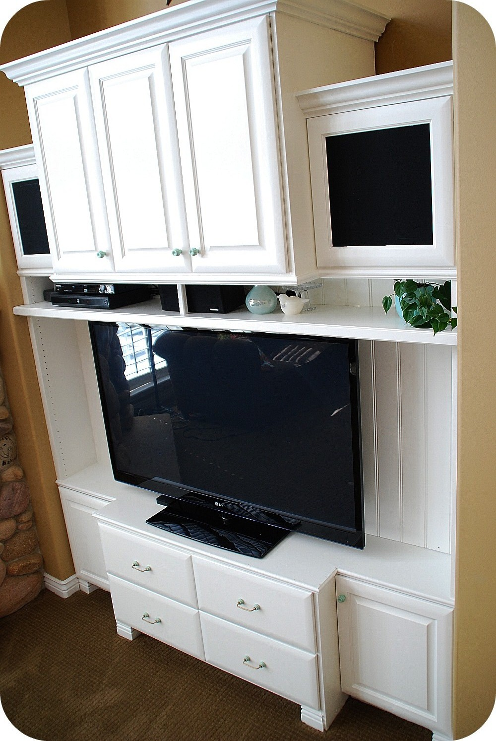 DIY Entertainment Unit Remodel -- Reveal!!