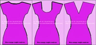 Blusas o vestidos con manga enteriza, quimono o japonesa
