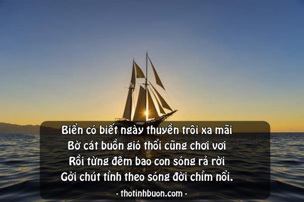 status ảnh bờ cát dài nhớ con thuyền mãi trôi lênh đênh