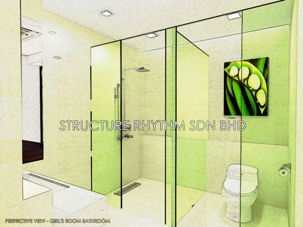 Bathroom perspective drawing - Perspective Drawing Perspective View Is One Of The Straight Forward Medium To Show The Idea And Concept To Client