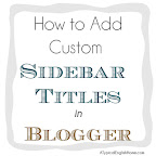 Customise sidebar titles Blogger