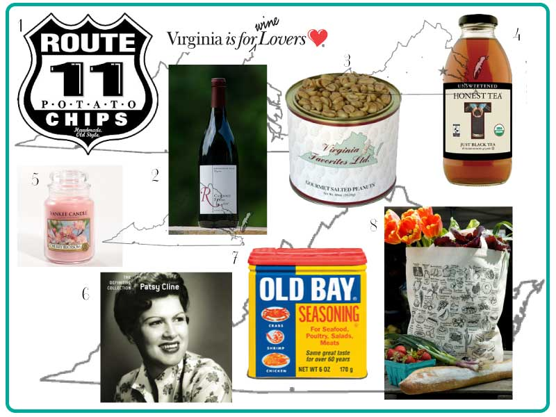 ... fun ideas for a Virginia or Washington, D.C. themed guest welcome bag