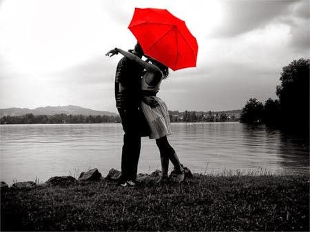 Ảnh lãng mạn đôi tình nhân bên bờ hồ