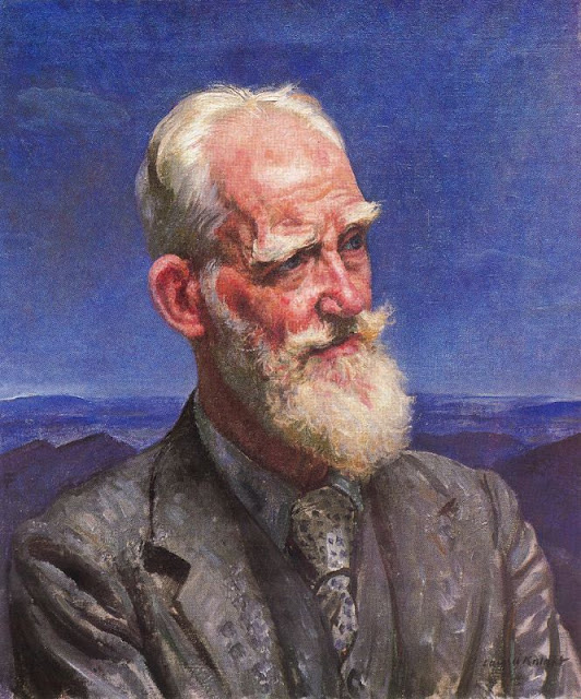 Laura Knight - Portrait of George Bernard Shaw