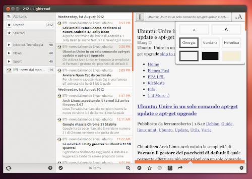 LightRead 1.1 su Ubuntu 12.04