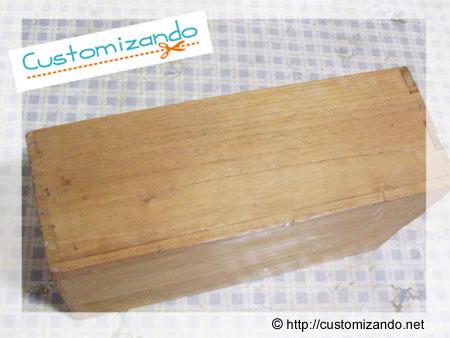 Customização de camixa de madeira com decoupage - estilo vintage