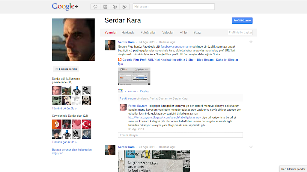 Google Plus Profil