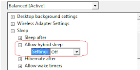 hybrid sleep off
