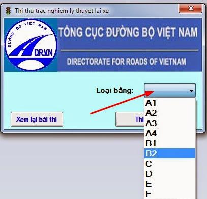 Hướng dẫn sử dụng phần mềm 450 câu hỏi lý thuyết sát hạch lái xe mới 2013 -3
